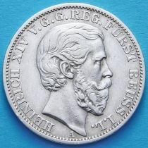 Рейсс-Шлейц, Германия 1 талер 1868 год. Серебро.