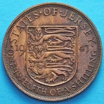 Джерси 1/12 шиллинга 1947 год.