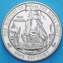 Джерси 5 фунтов 2004 год. Корабль Виктори.