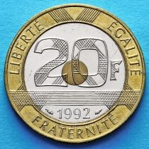 Франция 20 франков 1992 год. Замок Мон-Сен-Мишель.