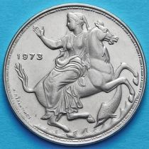 Греция 20 драхм 1973 год. Селена. Узкий кант.