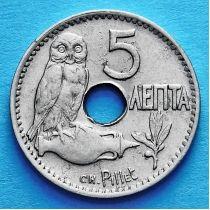 Греция 5 лепт 1912 год.