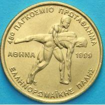 Греция 100 драхм 1999 год. Борьба.