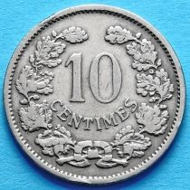 Люксембург 10 сантим 1901 год.