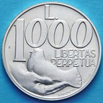 Сан Марино 1000 лир 1991 год. Серебро.