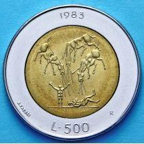 Сан Марино 500 лир 1983 год. Ядерная угроза.