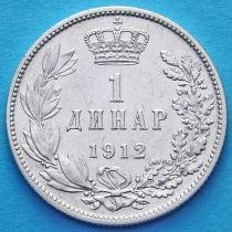 Сербия 1 динар 1912 год. Серебро.