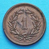 Швейцария 1 раппен 1902 год.