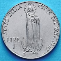 Ватикан 1 лира 1940 год. Дева Мария.