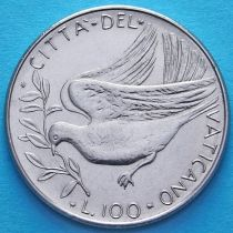 Ватикан 100 лир 1970 год. Голубь.