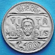 Ватикан 100 лир 1993 год. Портрет Иисуса. Нравственная жизнь.