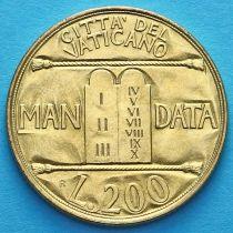 Ватикан 200 лир 1993 год. Десять Заповедей.