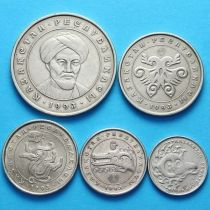 Казахстан набор 5 монет (тенге) 1993 год.