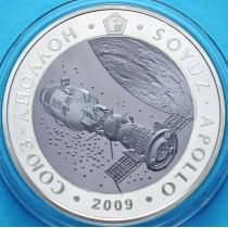 Казахстан 500 тенге 2009 г. Союз-Аполлон, Серебро-тантал