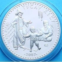 Казахстан 500 тенге 2007 год. Тусау кесу. Серебро