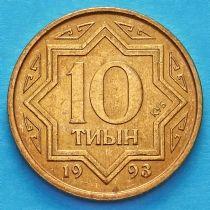 Казахстан 10 тыин 1993 год. Красная латунь.