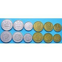 Узбекистан набор 6 монет 1994 год.