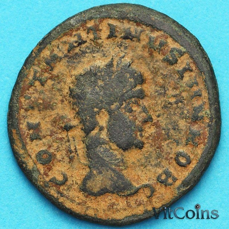 Монета Римская империя, фоллис Констанций II 320-322 год.