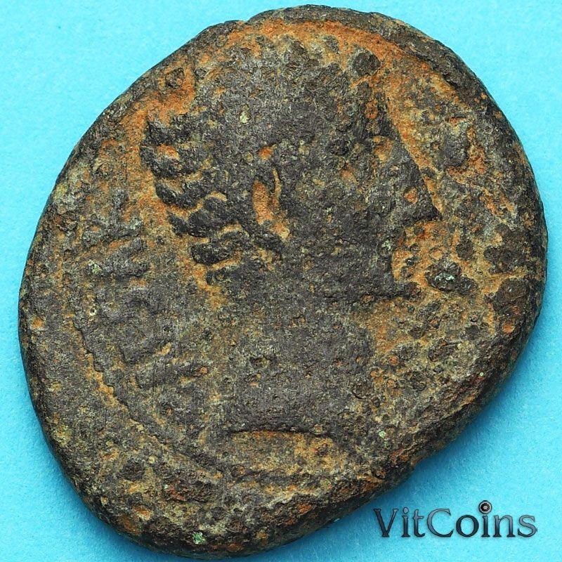 Монета Рим, провинция Сирия, Август  27 гднэ - 14 гнэ. Антиохия.