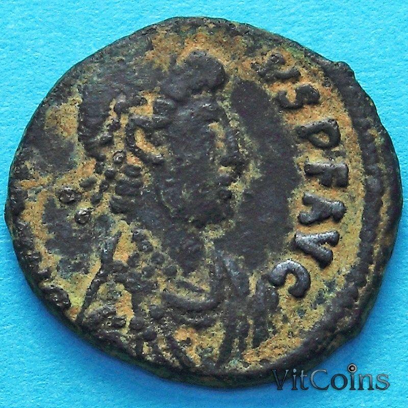 Монета Римская империя, фоллис Аркадий 395-401 год.№2