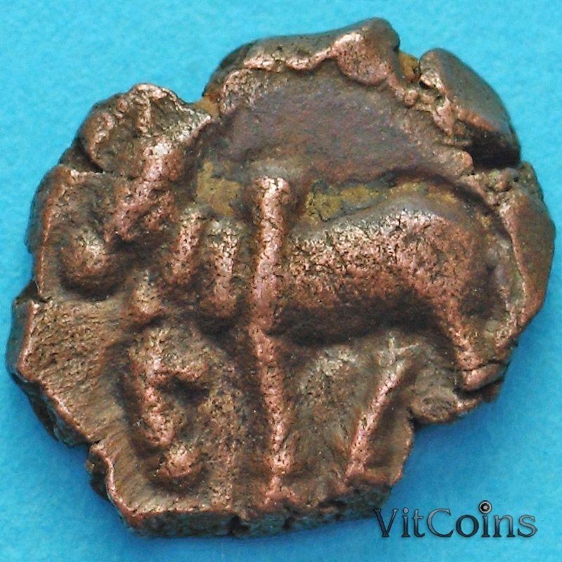 Древняя Индия, династия Нагас Падмавати 1/2 какини 335-340 год №4