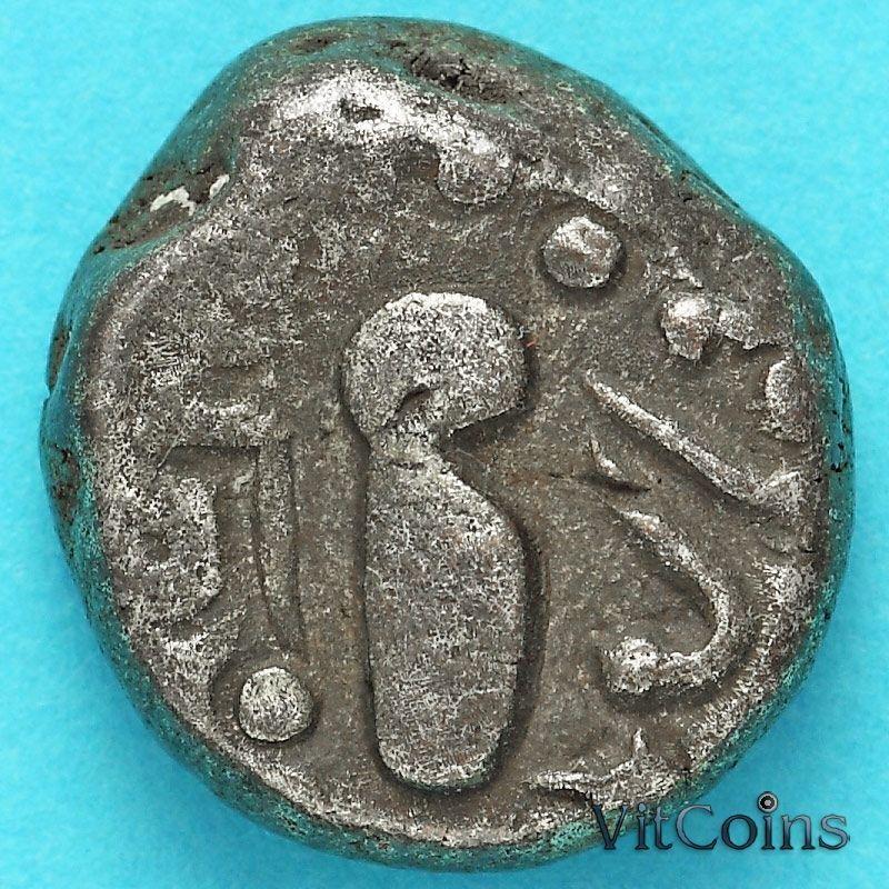 Древняя Индия, индо-сассаниды 1 гадхайя пайса 950-1050 год. Серебро. №4