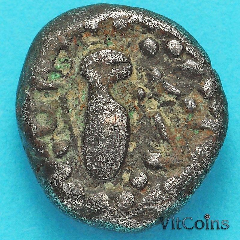 Древняя Индия, индо-сассаниды 1 гадхайя пайса 950-1050 год. Серебро. №2