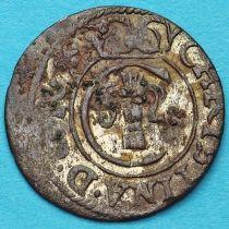 Ливония монета солид 1655 год. Рига. Кристина.