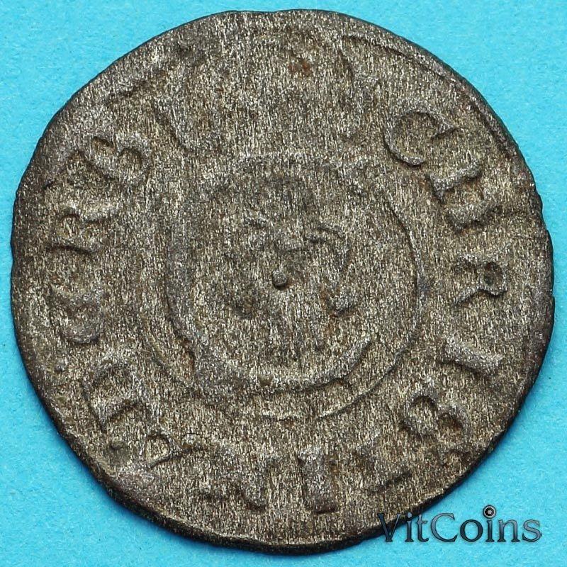 Ливония монета солид 1648 год. №3 Кристина.