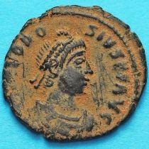 Феодосий I 392-394 год.  Римская империя, фоллис Константинополь.