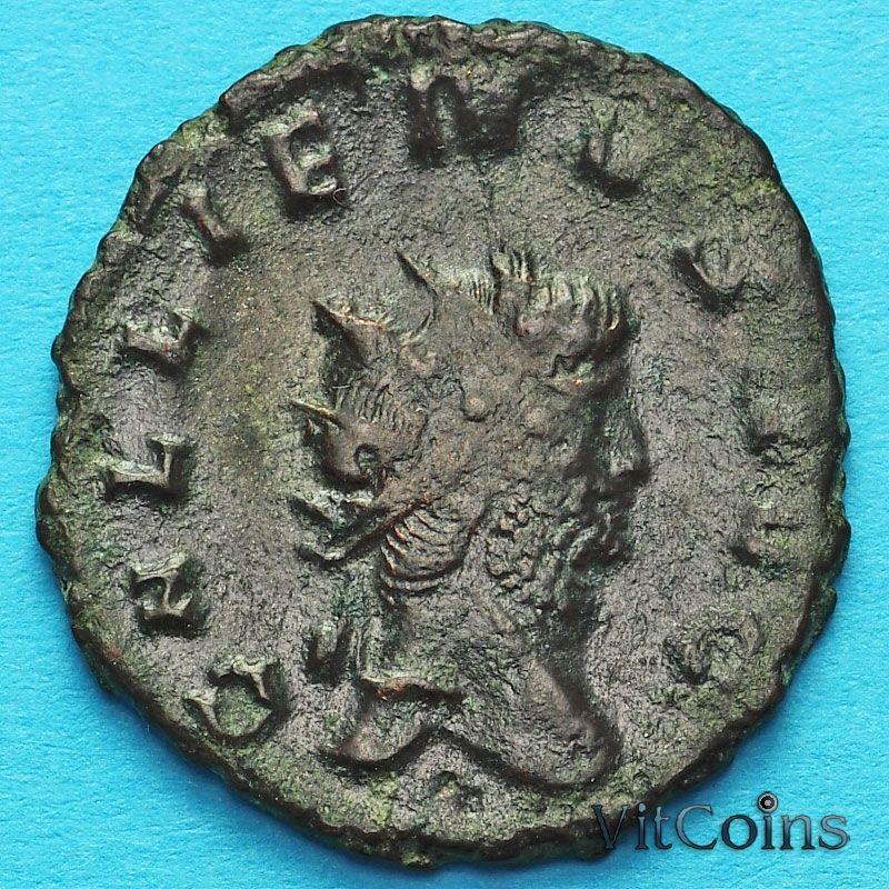 Монета Римская империя, Галлиен,  антониниан, 260-268 год. Фидес.