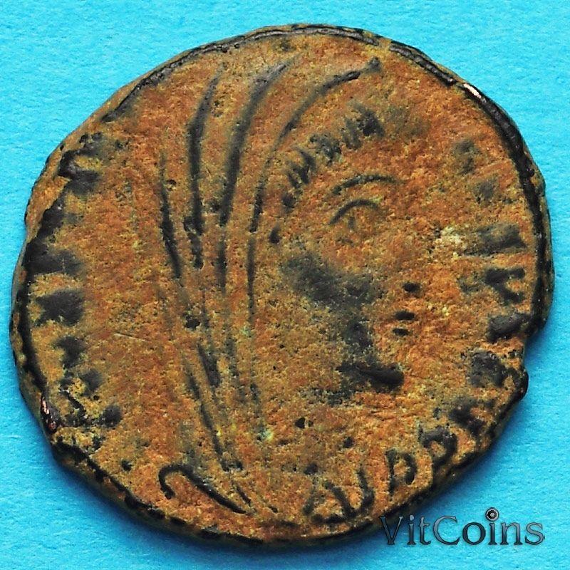 Монета Римская империя, фоллис Константин I, Великий 347-348 год. Посмертный.