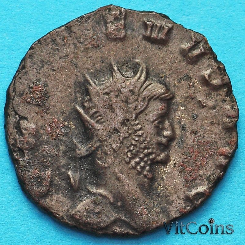 Монета Римская империя, Галлиен,  антониниан, 260-268 год. Фортуна.
