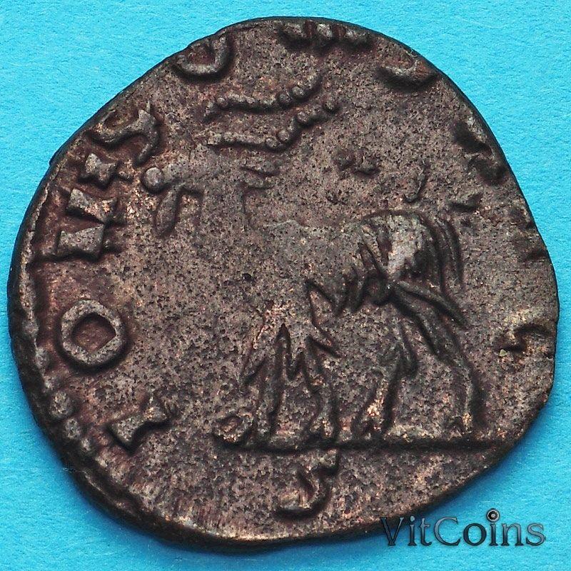 Монета Римская империя, Галлиен,  антониниан, 267-268 год. Козел