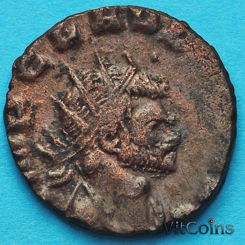Монета Римская империя, антониниан, Клавдий II Готский 268-270 год. Эквитас.