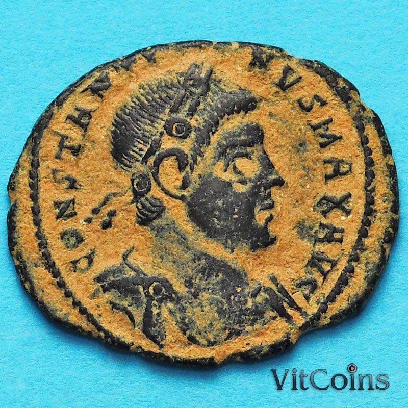 Монета Римская империя, фоллис Константин I Великий 330-336 год.