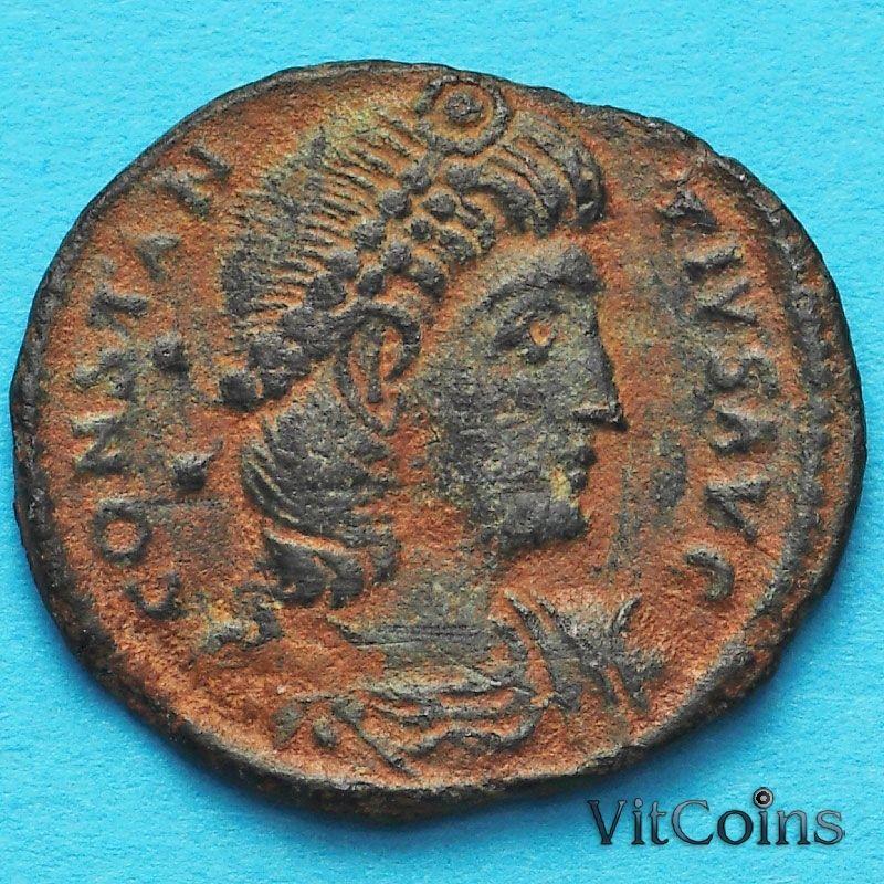Монета Римская империя, Констанций II, фоллис 337-342 год. №2