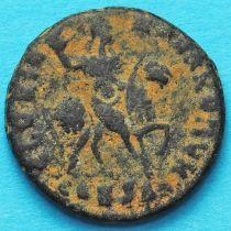 Гонорий, фоллис 395-401 год. Римская империя, Император на коне.