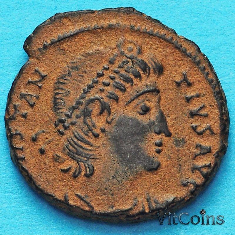 Монета Римская империя, фолис Константин II 336-340 год. №2