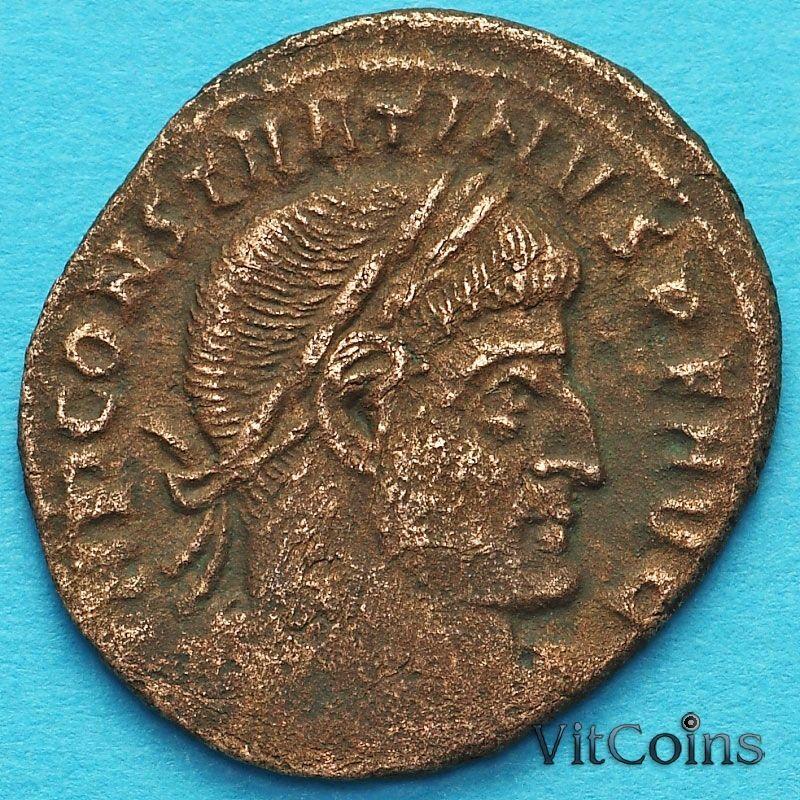 Монета Римская империя, фоллис Константин I, Великий 313-319 год. Сол. №4
