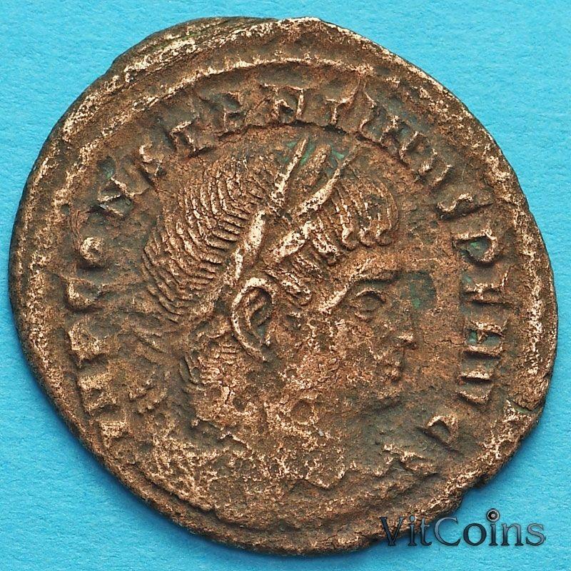 Монета Римская империя, фоллис Константин I, Великий 313-319 год. Сол. №5