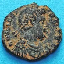 Валент 364-378 год. Фоллис, Император с пленником. Римская империя,