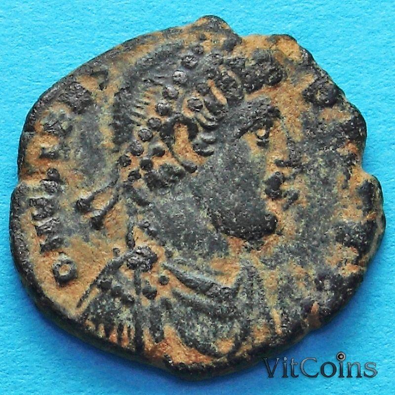Монета Римская империя, Валент 364-378 год. Император с пленником.