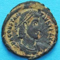 Констанций II. Солдат протыкает копьем падающего вражеского всадника. Римская империя, №2
