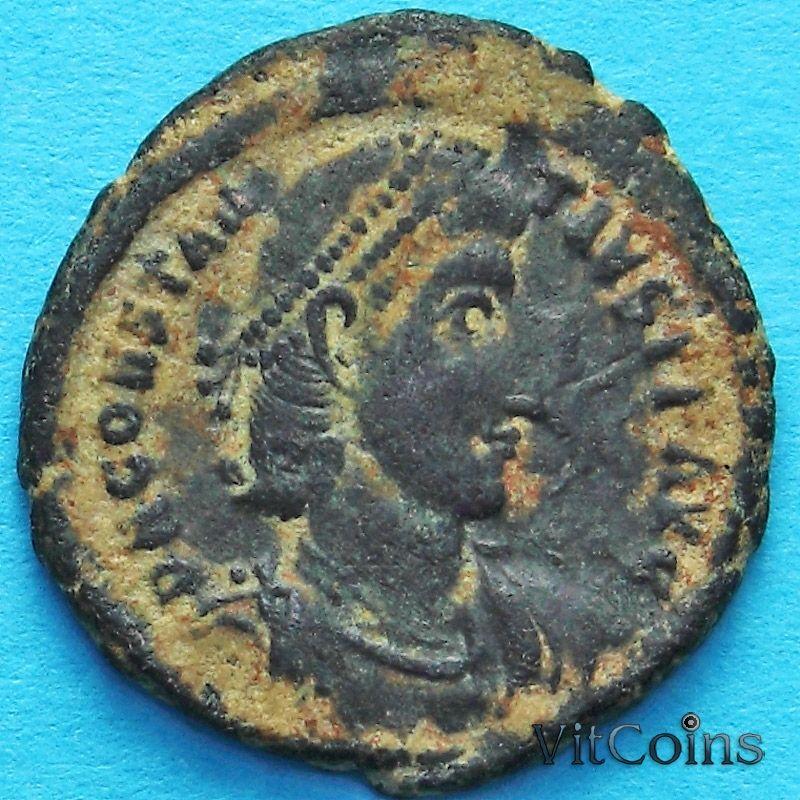 Монета Римская империя, Констанций II, фоллис 337-361 год. №2