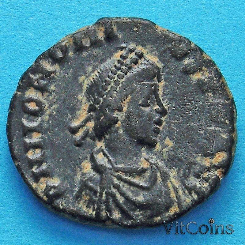 Монета Римская империя, Гонорий, фоллис 395-401 год.