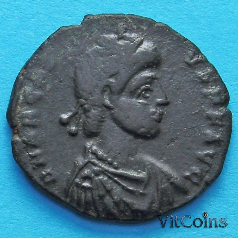 Монета Римская империя, фолис Аркадий 395-401 год. №2