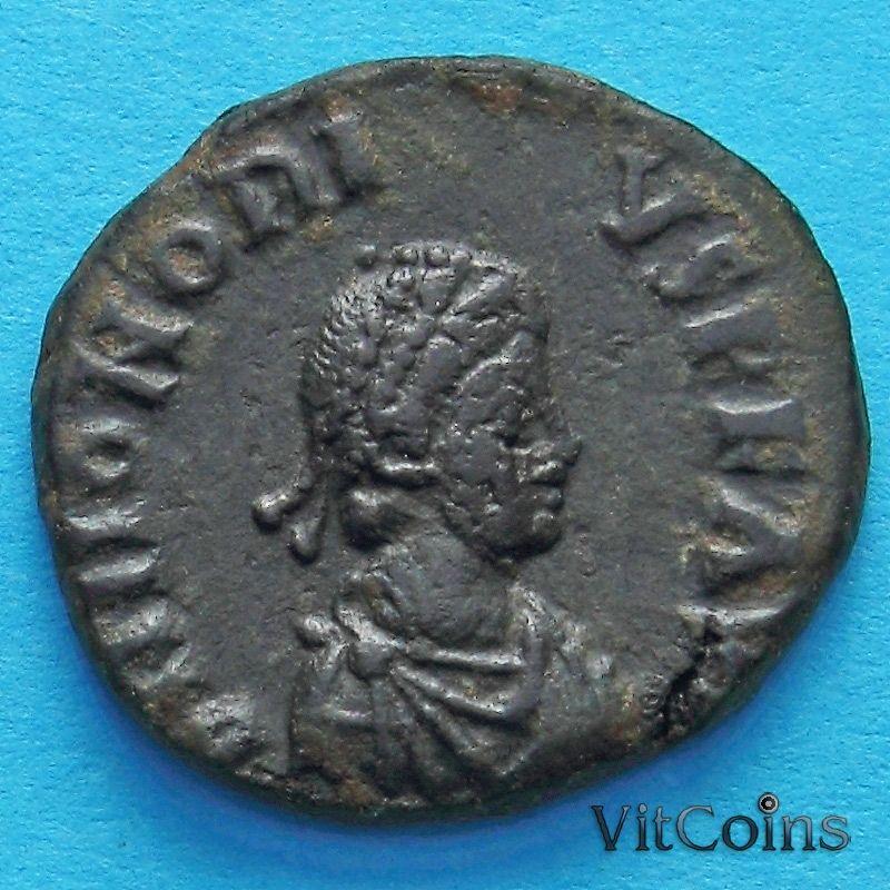 Монета Римская империя, Гонорий, фоллис 395-401 год.№2