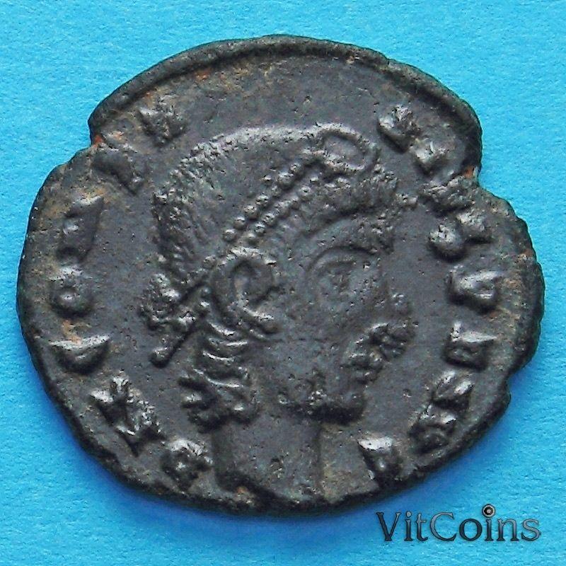 Монета Римская империя, фолис Константин II 347-348 год.