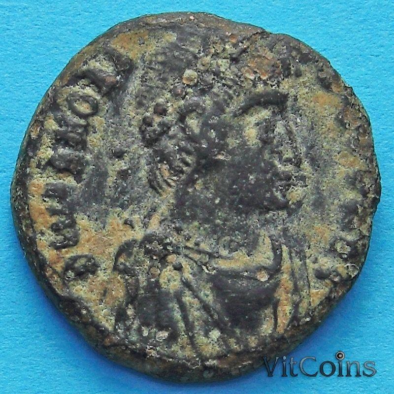 Монета Римская империя, Гонорий, фоллис 395-401 год.№3